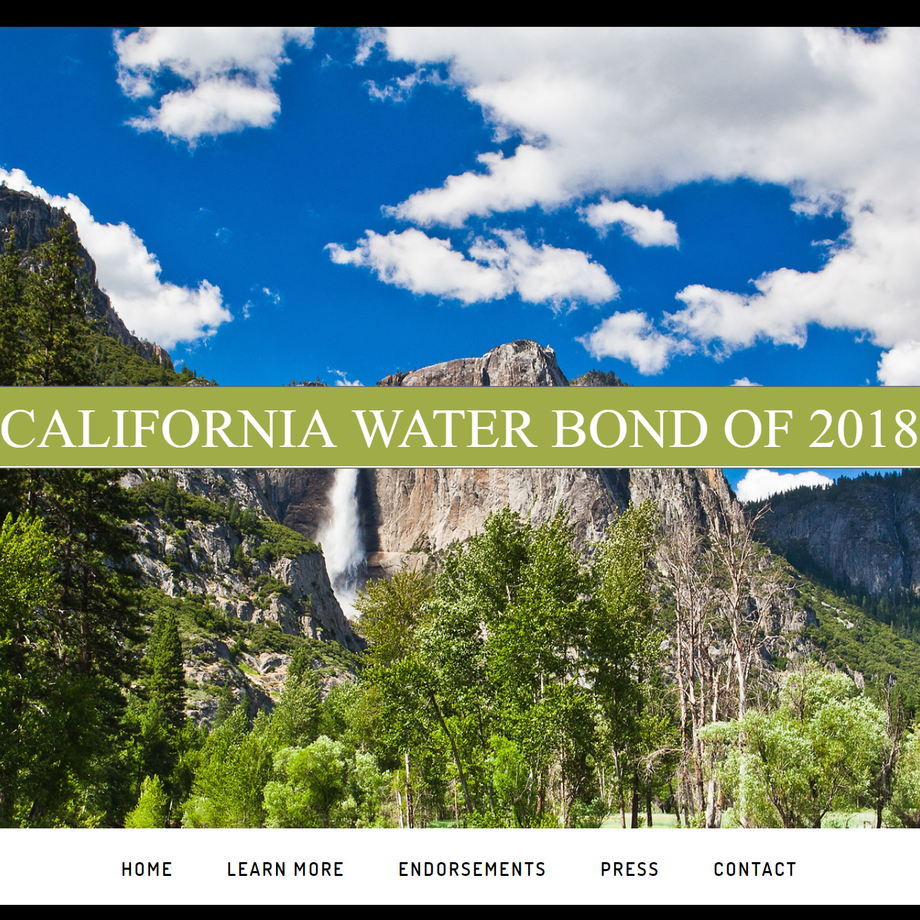 California Water Bond of 2018