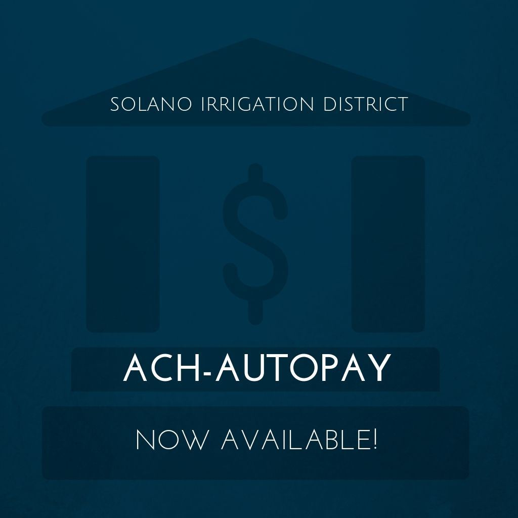 Image of financial building with ACH Autopay announcement