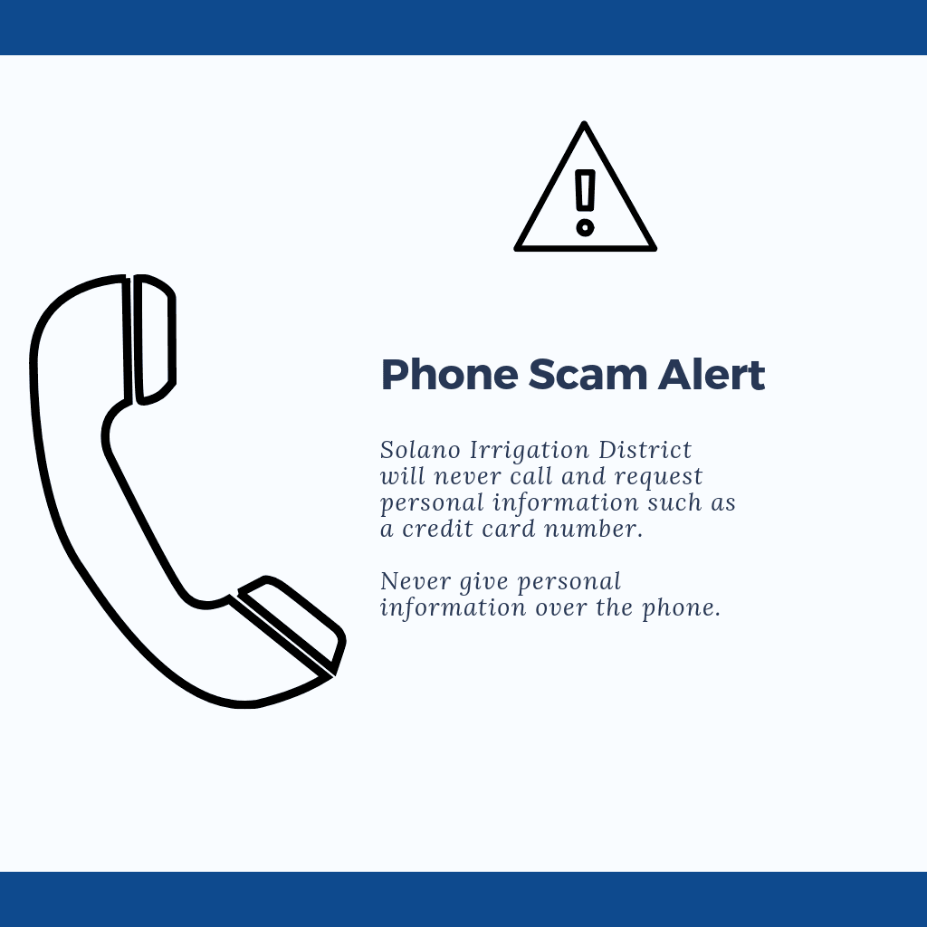Phone scam notice