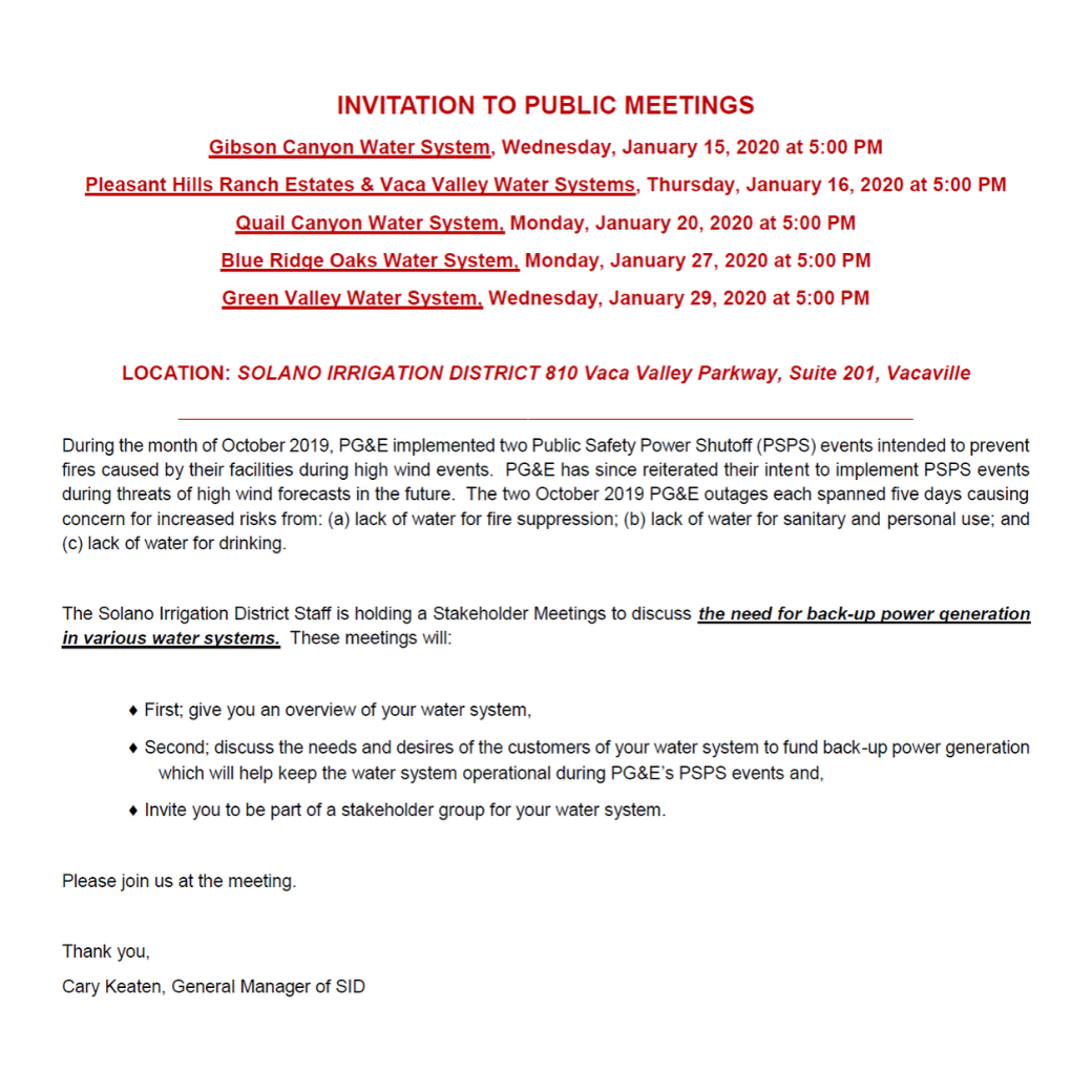 Invitation to Public Meeting